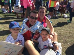 Team Smith post marathon (Chicago)
