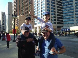 The boys getting a great view of the city with Mike and Keith (Chicago)